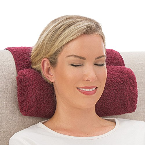 Collections Etc Adjustable Neck Roll Plush Support Pillow for Travel or Home - Machine Washable, - Neck Pillow Roll Accent
