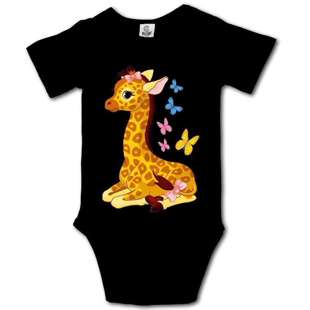 21kingeh Cut Giraffes Graphic Newborn Babys 0-24 Months Baby Climbing Clothing Baby Creeper for Baba