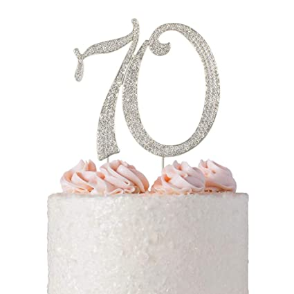 Amazon 70 Rhinestone Cake Topper