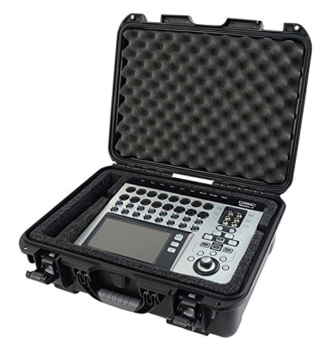 Gator Cases Injection Molded ATA-300 Certified Waterproof Mixer Case; Custom Foam Insert for QSC TouchMix 16 (GMIX-QSCTM16-WP) ()