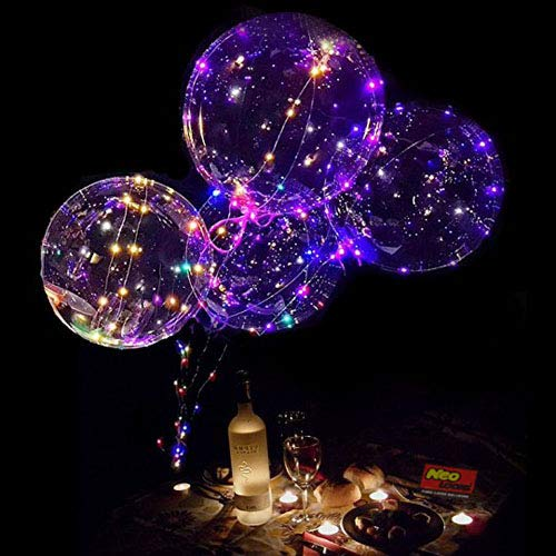 LED Light Up Balloons,18 Inch Helium LED Bobo Balloons for Christmas,Wedding,Birthday Party Decorations(Colorful,10 Pack)
