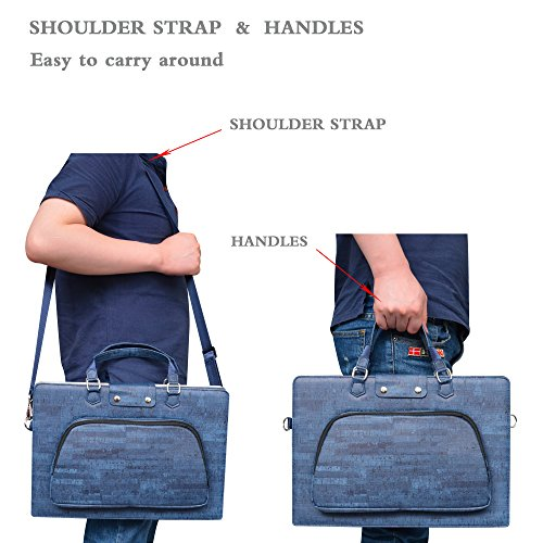 ... Accurately Designed Protective PU Leather Cover + Portable Carrying Bag for 15.6