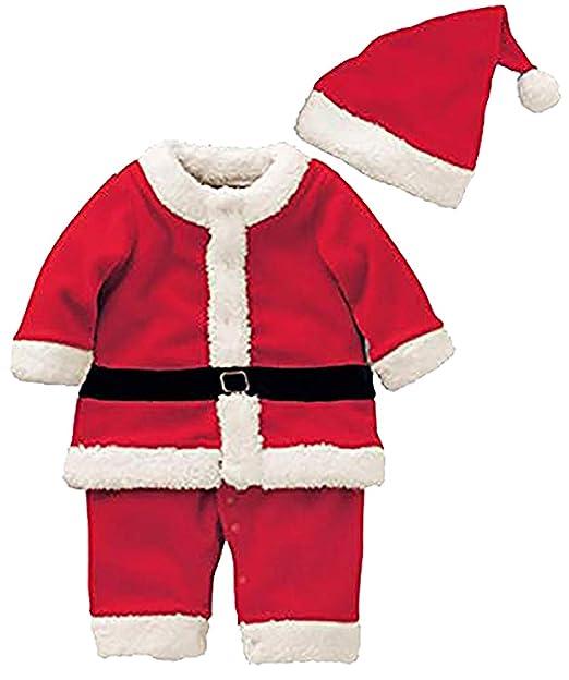 Amazon.com: Conjunto de disfraz de Papá Noel para bebés y ...