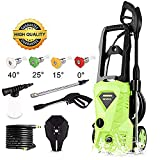 Tagorine Electric Pressure Washer, Power Washer with 2600 PSI,1.6GPM, (4) Nozzle Adapter, Longer Cables and Hoses and Detergent Tank,for Cleaning Cars, Houses Driveways, Patios,and More