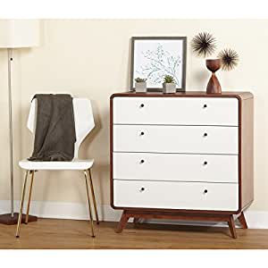 Simple living cassie mid century 4 drawer for Minimalist living amazon