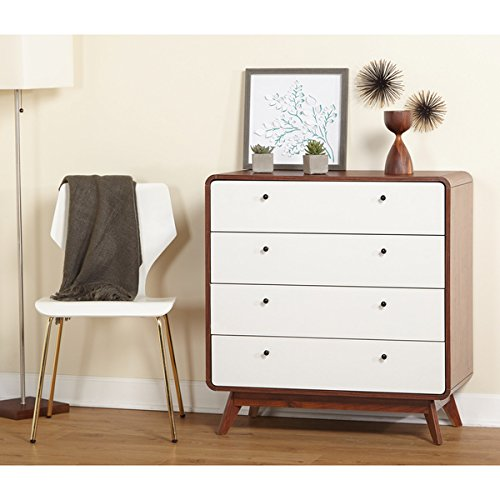 Discovery Princess Vanity (Simple Living Cassie Mid-Century 4-Drawer Chest)