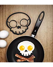 MUAECH Halloween Silicone Egg Mold, Breakfast Omelette Molds Egg Pancake Ring Shaper, Egg Frying Mold Cartoon Cooking Tools for DIY Kitchen Accessories-Skull/Owl/Rabbit/Sun-Coulds