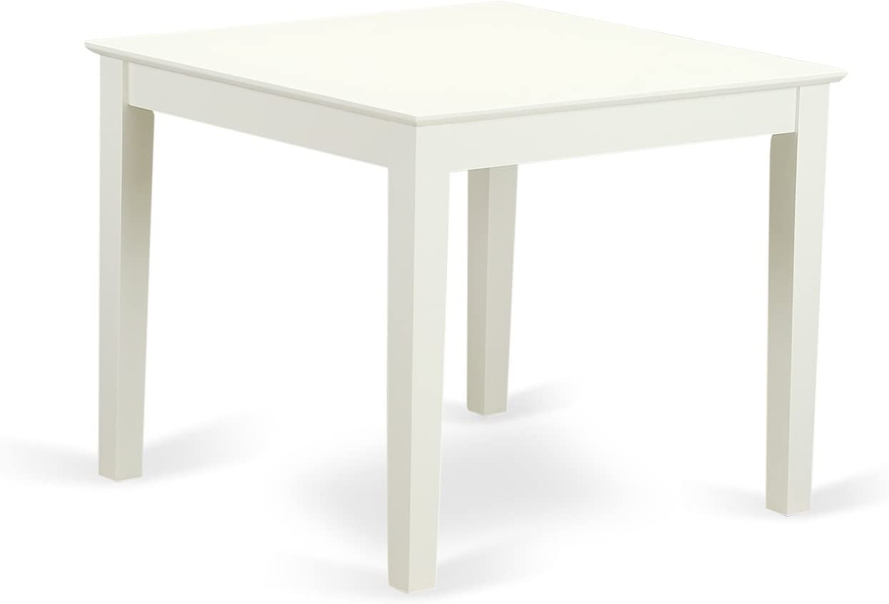 Oxford Square Dining Table – Linen White