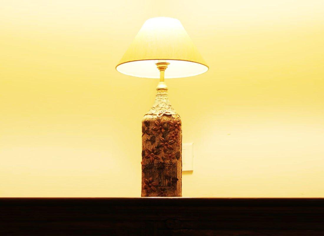 CraftedIndia Matt Finished Multicolor Table Lamp