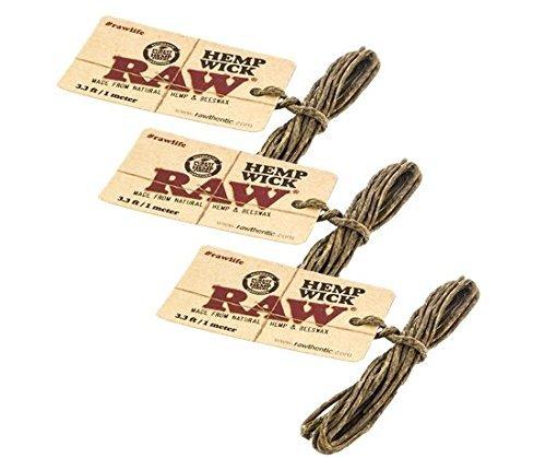 RAW-Natural-Unbleached-Hemp-Beeswax-Hemp-Wick-33ft-1-Meter-3-Pack