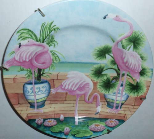 American Atelier - At Home - Marsh Bird Salad Plate w Brass