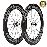 VCYCLE Nopea 88mm Carbon 700C Wheels Clincher 23mm Width Shimano or Sram 8/9/10/11 Speed