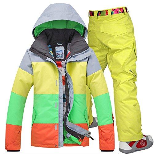 Outdoor Antivento Sci C Da Leit Pantaloni Caldo Yellow Uomo Yff Snowboard Pants Impermeabile Sport xXzwqwBHSc