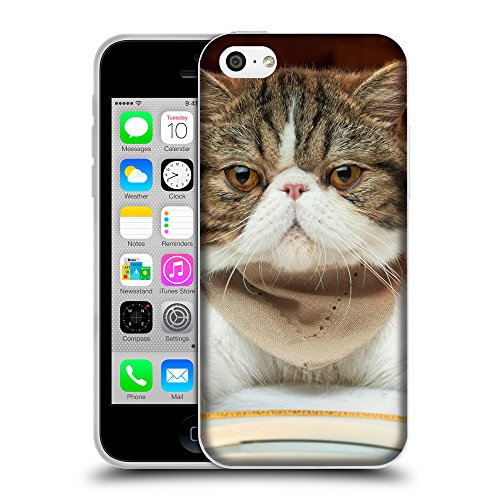Just Phone Cases Coque de Protection TPU Silicone Case pour // V00004318 graisse chat prêt pour le déjeuner // Apple iPhone 5C
