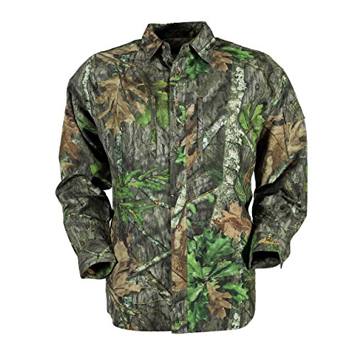 Gamehide Elimitick Ultra-lite Button up Shirt (Mossy Oak Obsession, 3X-Large) (Button Turkey)