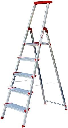 Escalera Rolser Aluminio Brico 220 5 Peldaños anchos: Amazon.es: Hogar