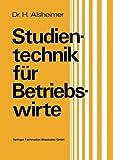 Studientechnik Für Betriebswirte, Alsheimer, Herbert, 3409392459