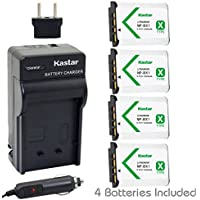 Kastar Battery (4-Pack) and Charger for Sony NP-BX1, M8 and Cyber-shot DSC-HX50V, HX300, RX1, RX1R, RX100, RX100M, RX100M3, WX300, HDR-AS10, AS15, AS30V, AS100V, AS100VR, CX240, MV1, PJ275 Camera