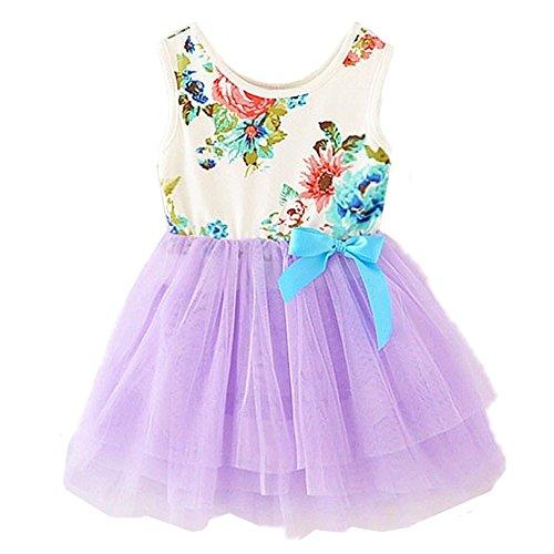 Lavender Floral Dress - 8