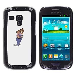 Shell-Star Arte & diseño plástico duro Fundas Cover Cubre Hard Case Cover para Samsung Galaxy S3 III MINI (NOT REGULAR!) / I8190 / I8190N ( Mail Man Drawing Art 3D Figure Package )
