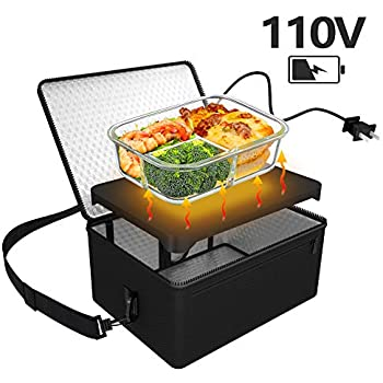 Personal Portable Oven, Mini Food Warmer Electric Lunch Box with Warmer Bag for Meals Reheat in Office, Travel, Potlucks and Home Kitchen