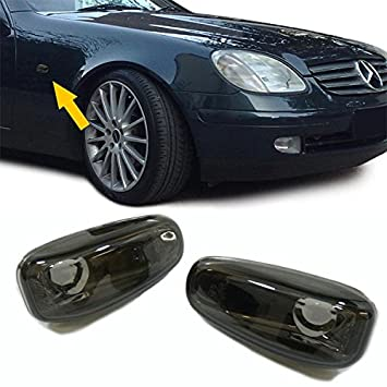 Carparts-Online 28573 LED Seitenblinker Klarglas schwarz