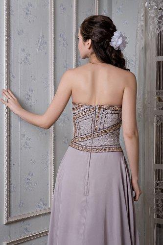 Lange Elegante Neu Friesen Grau Chiffon BRIDE Liebsten Abendkleid GEORGE xOBFqgHH