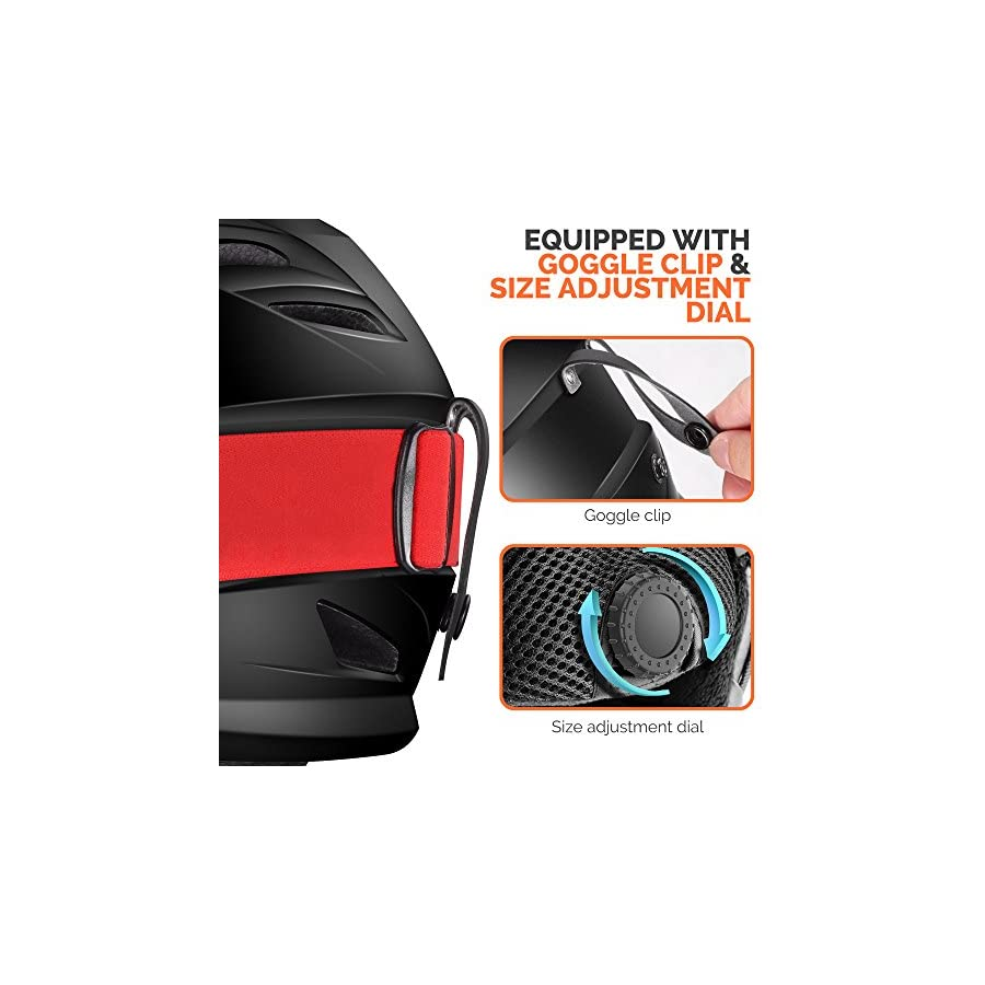 OutdoorMaster Ski Helmet PRO with Airflow Climate Control & Adjustable Fit for Men & Women