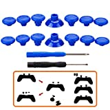 MXRC Professional Replacement Repair Kit Swap Thumb Analog Sticks for PS4 Controller & Xbox One Controller, Blue