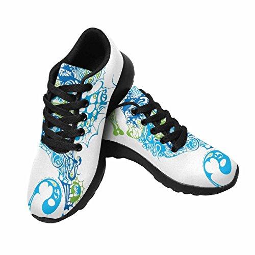 InterestPrint Womens Casual Soft Sports Road Running Walking Shoes Seahorse Multi 1 V00KyGelhA