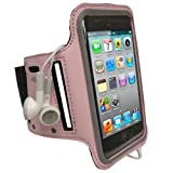 igadgitz Pink Reflective Anti-Slip Neoprene Sports Gym Jogging Armband for Apple iPod Touch 2nd, 3rd & New 4th Generation 8gb, 16gb, 32gb & 64gb