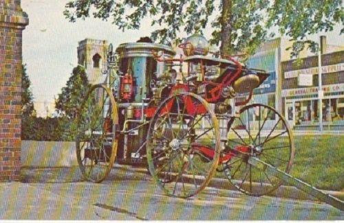 Unused Postcard Silsby Fire Engine Fergus Falls Minnesota (Fergus Engine)