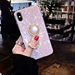 KC Glitter Dream Shell Pearl Design Stand Ring Holder Soft Smooth Silicone Semi Transparent Back Cover for Mi Redmi Note…