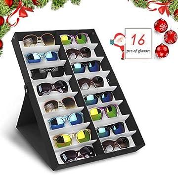 amzdeal Caja para Gafas de Sol Caja de Almacenaje Plegable con ...