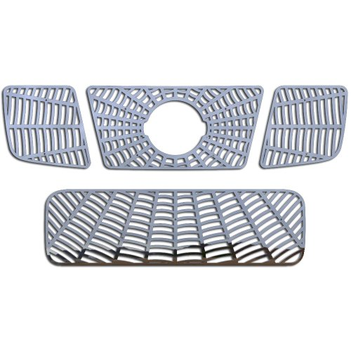 (Ferreus Industries Polished Stainless Spider Web Grille Grill Insert Trim fits: 2004-2007 Nissan Titan TRK-133-07-02)