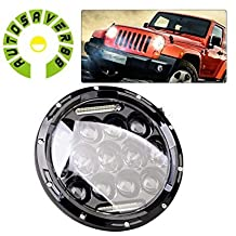 AUTOSAVER88 1x 7inch 75W H4 H13 with Adapter LED Headlight DRL H/L Beam Projector Head Bulb For Jeep Wrangler