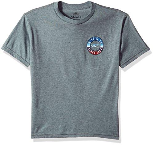 O'Neill Big Boys' Streaker Short-Sleeve T-Shirt, Medium Heather Grey, (Oneill Snow)