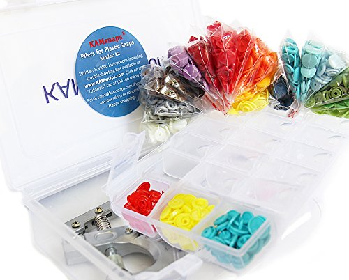 500 KAMsnaps 25-Color Lead-Tested KAM Snaps Plastic Resin Industrial Snaps Size 20 500 Sets Replacement Zipper Repair No-Sew Buttons 1//2