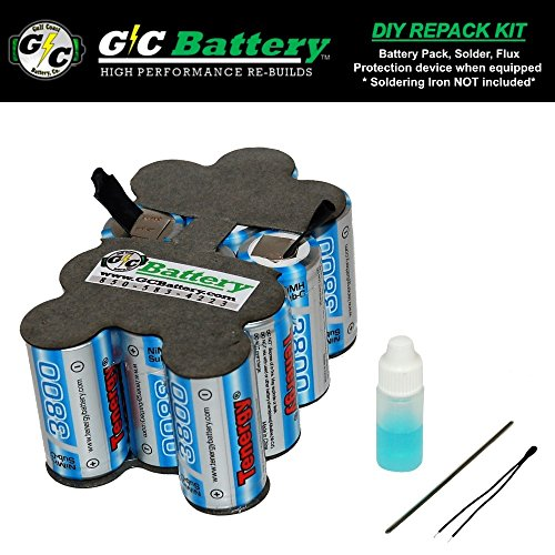 Snap-on 14.4V Battery CTB4145 | CTB4147 DIY REPACK KIT (contact not included) | UPGRADED Tenergy 3.8Ah NiMH