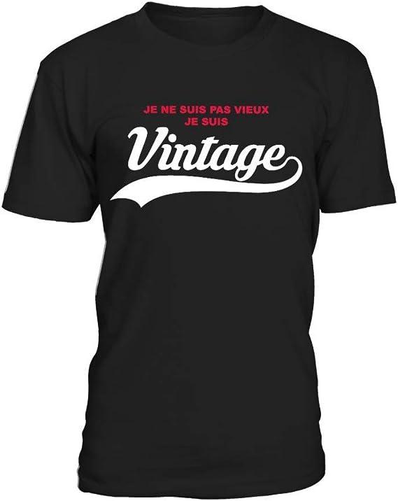 """humour  /""""Je ne suis pas vieux je suis vintage/"""" Tee-Shirt Personnalisé"""