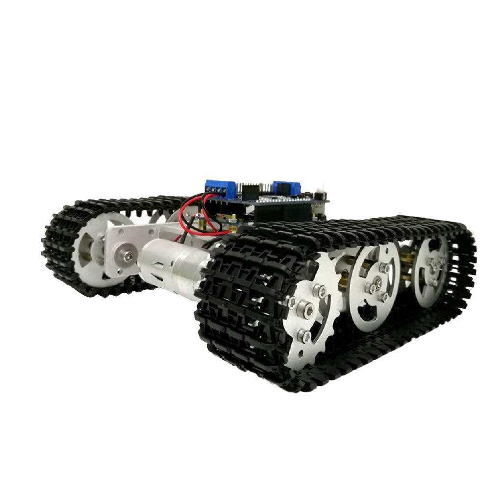 Homyl Kit di Telaio Robot Smart Car RC Motore Cisterna Controller ESPduino Plastica Ingegneria - argentoo   1