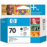 HP 70 Printhead Cartridge, Black/Light Gray