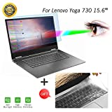 Anti Blue Light Screen Protector for Lenovo Yoga 730 2 in 1 15.6'' Touch Screen Laptop Screen Filter with Keyboard Cover for Lenovo Yoga 730 15.6'' Laptop Anti Scratch Glare Screen Filter Film Cover
