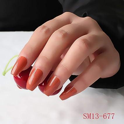 Juego de 24 uñas postizas coloridas para uñas de tocador de uñas ...