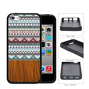 linJUN FENGAztec Artwork And Polished Wood Rubber Silicone TPU Cell Phone Case Apple ipod touch 5