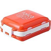 Portable 7 días píldora recordatorio medicina envase píldora estuche, naranja