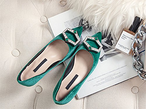 4 Stiletto Style LUCKY Shoes Sandals Office EU36 Party Heel Hippie Rhinestone Bridal Ladies A High Heels Office CLOVER Green Oversized Seasons 1qwS1ZO