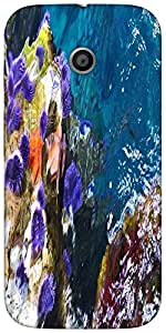Snoogg Abstract Underwater Designer Protective Back Case Cover For Moto-E 2Nd...
