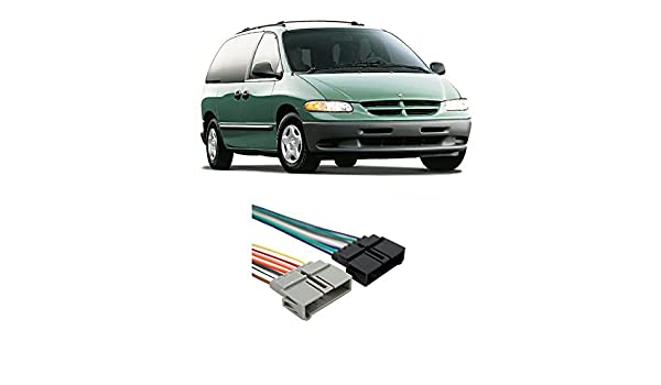 amazon com: fits dodge caravan 1984-2001 factory stereo to aftermarket radio  harness adapter: car electronics