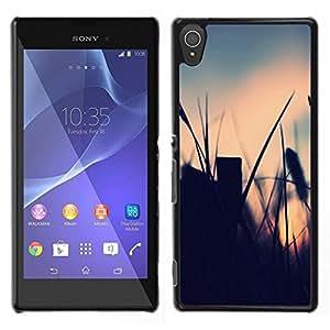 El campo de verano - Metal de aluminio y de plástico duro Caja del teléfono - Negro - Sony Xperia T3
